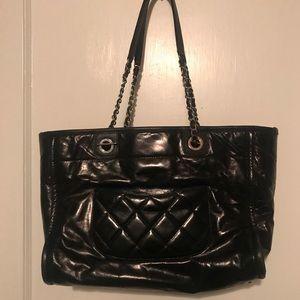 c1bed4b0899f CHANEL Bags | Glazed Calfskin Small Deauville Tote Black | Poshmark